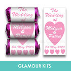 PERSONALISED MINI LOVE HEART SWEETS WEDDING CANDY FAVOURS 20 - 300 any colours