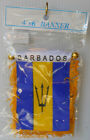 """Barbados"" Mini Flag Banner Both Sides Flag"