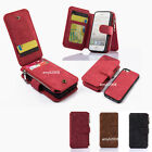 For iPhone 5 5S SE Magnetic Wallet Card Pocket Leather Flip Zipper Case Cover