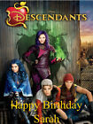 A4 DISNEY DESCENDANTS PERSONALISED EDIBLE CAKE TOPPER ON ICING OR WAFER PAPER