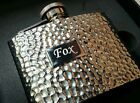 Engraved Personalised 4oz Stainless Steel Hammered Finish HipFlask/Hip flask Box