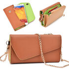 Ladie's PU Leather Wallet Case Cover & Crossbody Clutch for Smart-Phones XLUB13