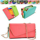 amazon xperia z case - Ladie's PU Leather Wallet Case Cover & Crossbody Clutch for Smart-Phones XLUB13