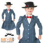 1960s Mary Poppins + Hat Girls Fancy Dress 60s Disney Childs Costume Outfit New