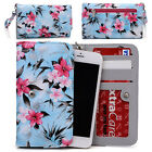 Womens Flower Pattern Wallet Case Cover for Smart Cell Phones by KroO ESMLF-17