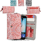 Ladie's Convertible Paisley Smartphone Wallet Cover & Wristlet Clutch ESMLP2-13