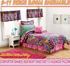 TEEN GIRL SAFARI MULTI COLOR LEOPARD ANIMAL PRINT 9-11p TWIN~FULL COMFORTER SET <br/> COMFORTER~SHAM(S)~BED SKIRT~SHEET SET+2-VALANCES+PILLOW
