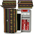 KroO ESPS-10 MD Aztec Patterned Protective Wallet Case Cover for Smart-Phones