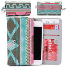 KroO ESPS-4 MD Aztec Patterned Protective Wallet Case Cover for Smart-Phones