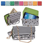 Aztec Form Protective Wallet Case Cover Crossbody Clutch for Smart-Phones X6UC1