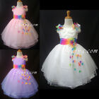 #RB9 Flower Girl Wedding Junior Bridesmaid Birthday Party Prom Summer Sun Dress