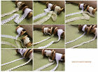 Vintage style Cotton crochet lace edge trim white or natural  x 3 metres