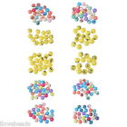 20PCs Mixed Round Acrylic Face Emoji Emotion Beads Jewelry Findings 11mm