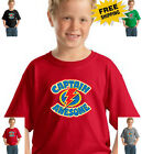 Kyпить Funny Captain Awesome Young Boys Childrens Kids Youth New Cotton T Shirt на еВаy.соm