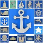 Wooden Shapes Nautical 6' Size Unpainted Wood Beach Pirate Sailing Wall Decor