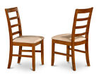 Set of 2 Parfait Kitchen dining Chair - Saddle Brown Finish.