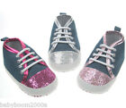 Soft Touch Cute Baby Trainers Booties Shoes Glitter Ideal Gift Present bnip