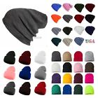 Men Women Knit Plain Beanie Cap Ski Hat Solid Casual Winter Hats Hip Hop Caps