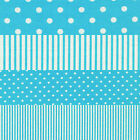 AQUA WHITE SPOTS & STRIPES 4 TO CHOOSE FROM CRAFT QUILT FABRIC Free Oz Post