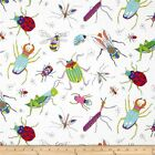 BUZZ BUGS FLIES GRASSHOPPER ALEXANDER HENRY QUILT SEWING FABRIC Free Oz Post *