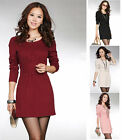 UK NEW Office Work Cocktail Party Long Sleeved Pencil Shift Mini Dress 6 8 10 12