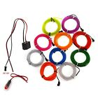 5M EL Wire LED Flexible Neon Glow Car Party Light with 12V...