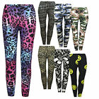 New Ladies Womens Leggings Stretchy Printed Sexy 3d Yoga Funky Colourful Pant
