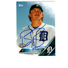 Detroit Tigers Beau Burrows Signed 2016 Topps Pro Debut Auto Card Whitecaps