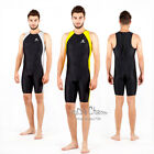 Men Boy One Piece Full Knee Back Body Open Water Sport Fitness Swimwear Swimsuit