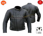 Mens Terminator Style Black Genuine Cowhide Leather Biker jacket all sizes
