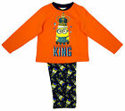 Boys Despicable Me Minions Born To Be King Long Cotton Pyjamas 2 to 7 Years