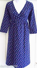 NEW~JOJO MAMAN BEBE~MATERNITY & LABOUR NIGHTDRESS NAVY BLUE FLORAL COTTON JERSEY