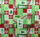 JINGLE CHRISTMAS TREE PATCH MODA CRAFT QUILT SEWING FABRIC Free Oz Post *