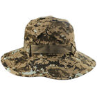 Men Tactical Twill Side Snap Chin Cord Outdoor Hunting Fishing Bucket Boonie Hat