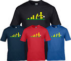 EVOLUTION LEGO FOOTBALL   funny KIDS T SHIRT ages 3 to 4  - 12 to 13