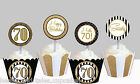70th seventieth milestone birthday party Cupcake Toppers cup cake