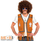 Hippie Fringed Waistcoat Mens Fancy Dress 60s 70s Hippy Adults Costume Accessory