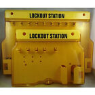 HIGA Overall Molding Lockout Station with Cover, Unfilled Safe Security Padlock