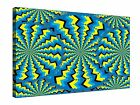 """Moving Abstract Optical Illusion ~ 20x30"""" Canvas Wall Art Picture Print Framed"""