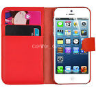 Book Magnetic Flip Cover Stand Wallet Leather Case For Apple iPhone SE, 5, 5C,  <br/> Free Protector, Movie Stand Function, Premium Quality
