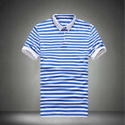 Slim Fit Casual Men's Short Sleeve Striped T Shirts