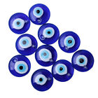 10pcs Royal Blue Evil Eye Pattern European Charms Lampwork Glass Charms Bead C