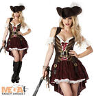 Sexy Swashbuckler Pirate Lady Fancy Dress Ladies Adult Costume Outfit + Hat