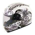 Scorpion White EXO-R410 Orchid Motorcycle Helmet Snell DOT
