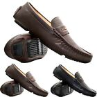 MENS NEW SLIP ON CASUAL BOAT DECK MOCASSIN DESIGNER DRIVING LOAFERS SHOES