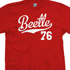 Beetle 76 Script Tail Shirt - 1976 Classic Volkswagen VW Bug - All Size & Colors