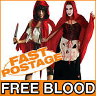 Little Dead Red Riding Hood Zombie Halloween Ladies Storybook Costume Outfit
