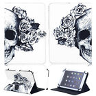"""SKULL! Universal For 7"""" 7.9"""" 10"""" 10.1"""" Tablet PC Folio Leather Wallet Case Cover"""