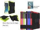 For Apple iPad Air 2 Heavy DutyTPU Back Stand case & screen protector