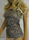 LEOPARD Print Lycra Long BOOB TUBE TOP Strapless BANDEAU Party Club Tankini AD4